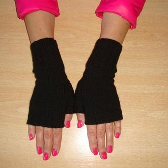 Митенки перчатки без пальцев универсальные  - Casual