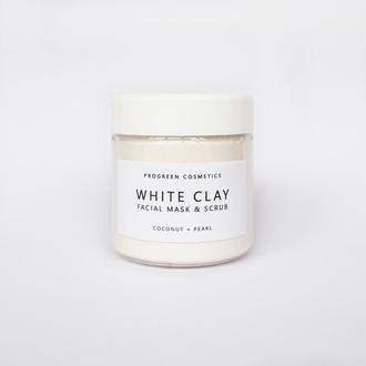 Маска-скраб для лица с кокосовым молоком и жемчугом WHITE CLAY