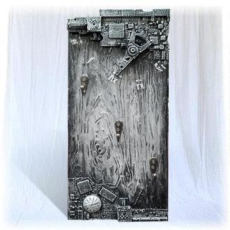 Ключница настенная открытая, стильный предмет декора интерьера в стиле лофт