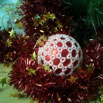 Подарочный елочный шар (игрушка на елку, сувенир к новому году)