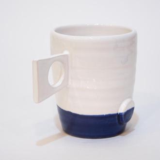 """Чашка """"Бело-синяя геометрия"""""""