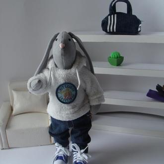 Заяц тильда интерьерная текстильная игрушка