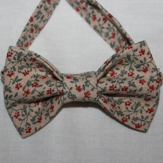 Краватка-бежева для хлопчика / краватка-метелик для хлопчика бежева
