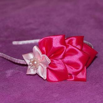 Обруч ободок квітка квіточка цветок канзаши