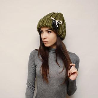 Шапка Біні максі / шапка с отворотом