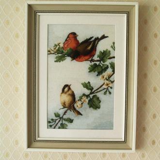 "Картина вышитая ""Птицы"""