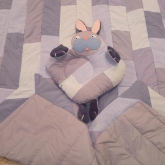 Детское лоскутное одеяло в стиле пэчворк