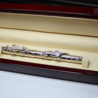 Серебряная пишущая ручка Cartier