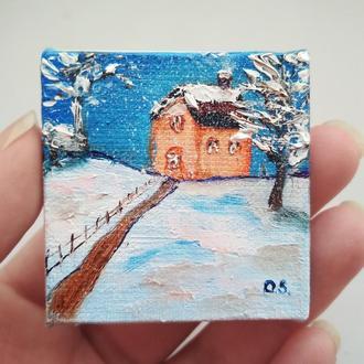 Дом зимой (миниатюра)