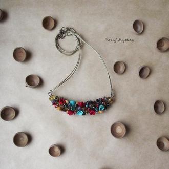 Цветочное украшение, подвеска, цветы, подарок для девушки
