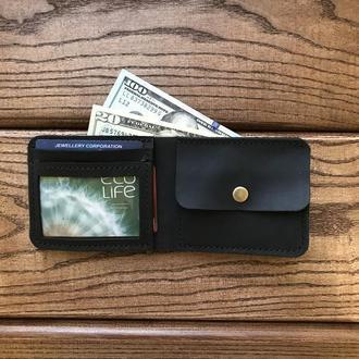Портмоне, кошелек с отделом под фото и монеты