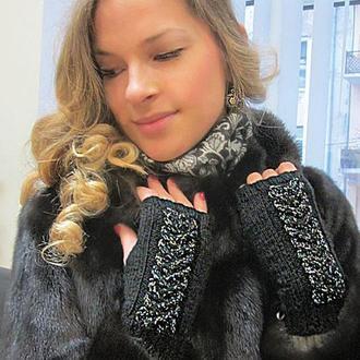 Митенки - перчатки без пальцев сама элегантность