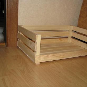 Лежак деревянный для собак
