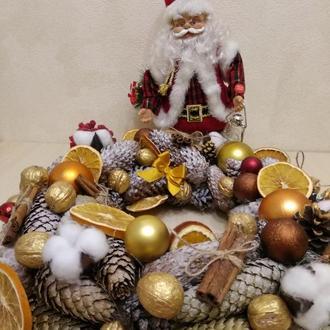 Новогодний Рождественский веночек