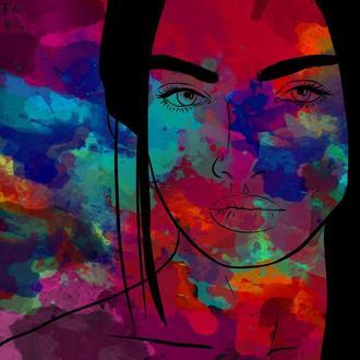 Веб портрет в стиле флип флоп