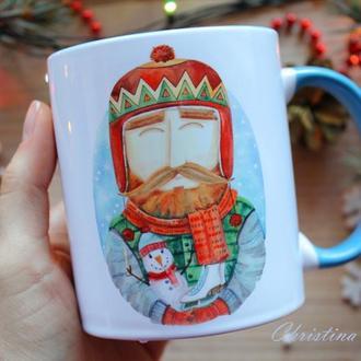 """Чашка с принтом """"веселих зимових свят"""""""