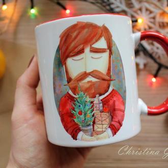 """Чашка с принтом """"Щасливого нового року"""""""