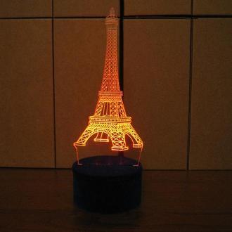 Эйфелева башня, светильник, ночник, LED лампа, париж, романтический подарок, франция