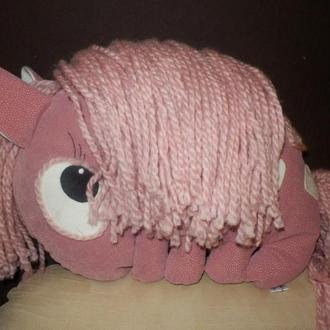 """Авторская игрушка-подушка """"Пони""""(пудра)"""