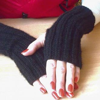 Митенки перчатки без пальцев - стильные и комфортные