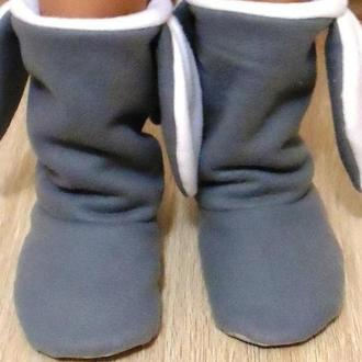 Сапожки-тапочки Зайка, Чертики, теплые и уютные