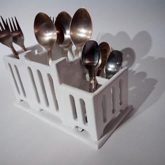 Кухонный органайзер, держатель ложек и вилок, держатель столовых приборов, короб кухонный.