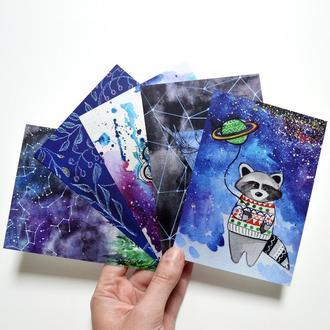 Набор из 5 авторских открыток