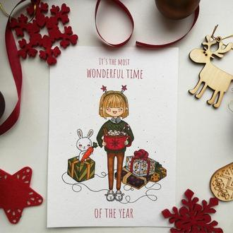 "Новогодняя открытка ""It's the most wonderful time of the year"""