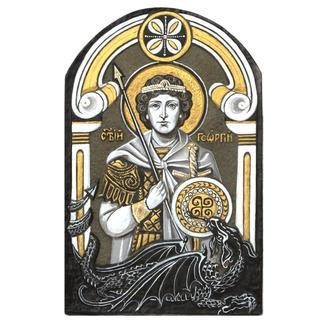 Икона на камне «Святой великомученик Георгий Победоносец»