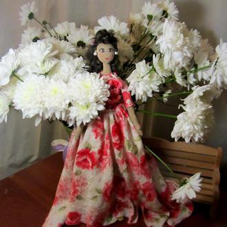 Текстильная кукла Роза