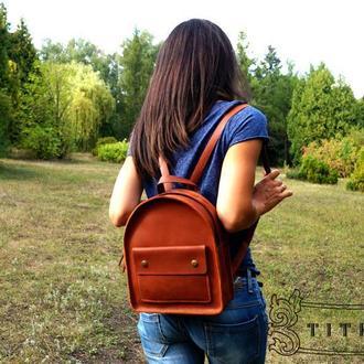 Кожаный женский рюкзак - Foxy