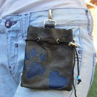 Кожаная сумочка для лакомств