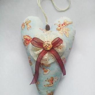Текстильне серце -Тильда, Валентинка, ручна робота