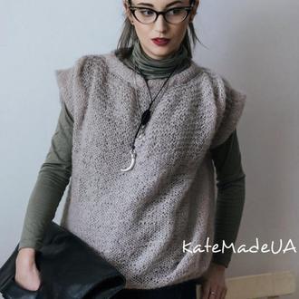 Полупрозрачная и очень теплая мохеровая блузка.