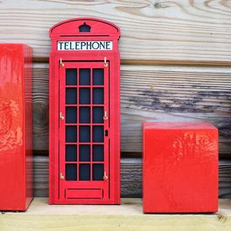 Ключниця Лондонська Телефонна будка London Telephone Booth Keyholder