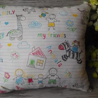 Подушка детские рисунки , 35 см * 35 см