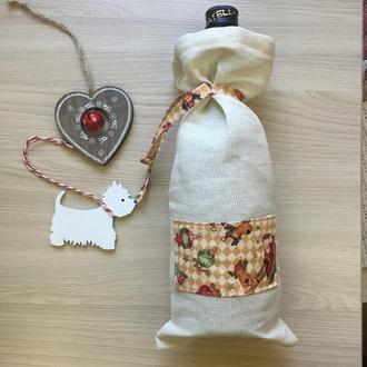 мешочек для подарка/ мешочек для бутылки
