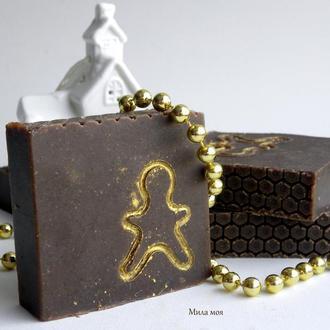Крем-мило з нуля «Медовий пряник» на козиному молоці