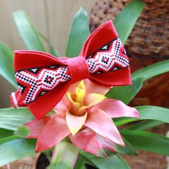 Краватка-метелик  з українським візерунком