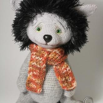 Волчонок крючком Волк  Амигуруми Подарок Интерьерная игровая игрушка