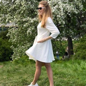 Белое платье для отпуска скидка