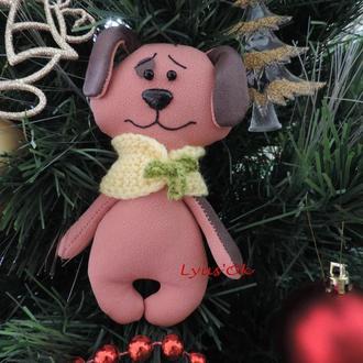 Собака - символ 2018 года. Новогодний подарок. Игрушка Пес. Сувенир к Новому году.