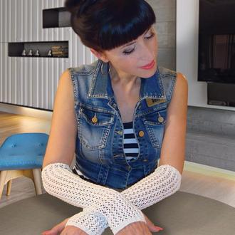 Митенки - перчатки без пальцев - just chic