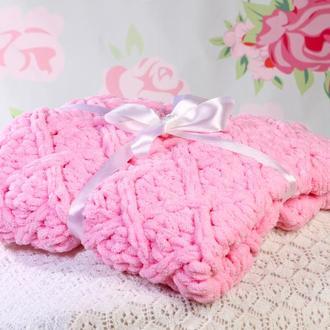 Плед детский розовый