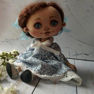 Текстильная девочка Оля