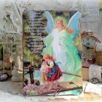 Сосновое панно ′Молитва-оберег за ребёнка′.