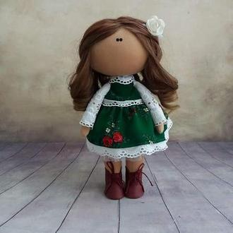 Інтер'єрна лялька у польському національному комтюмі