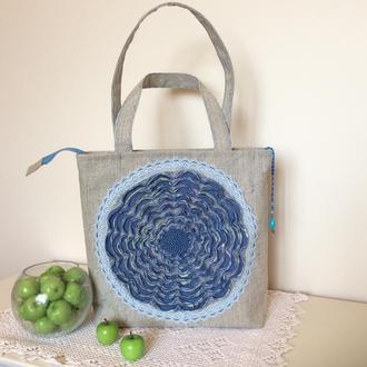 """Текстильная сумка """"Ожидание весны"""""""