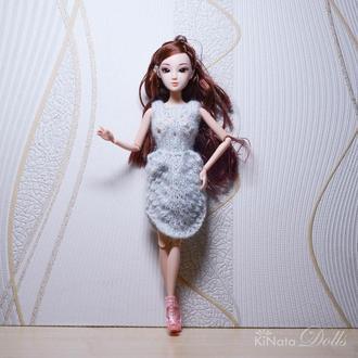 Ажурное платье для Барби