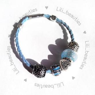 Браслет по типу Pandora  / браслет с подвесками пандора украшения прикраса